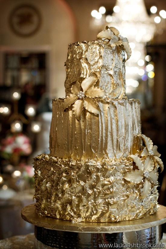 The golden cake