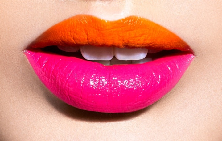 Futuristic Two-Tone Lip