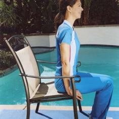 Remain upright in the chair and grab both sides of the front of the seat, near your hips. Read more: Flat Belly Exercises - How to Get a Flat Belly by Jorge Cruise - Good Housekeeping