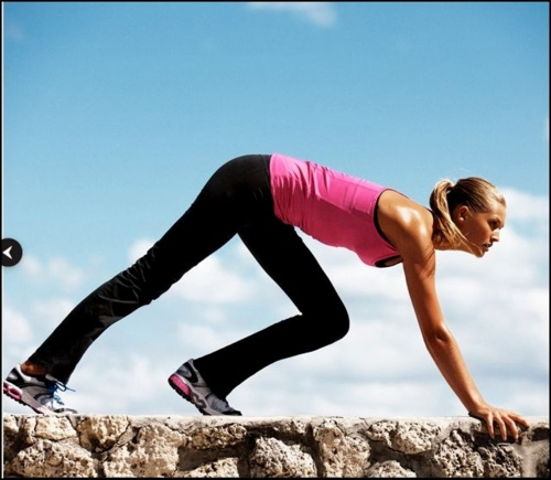 Mountain climbers. This cardio move helps strengthen leg and core muscles as well.