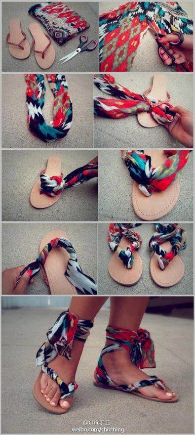 Super cute DIY sandals