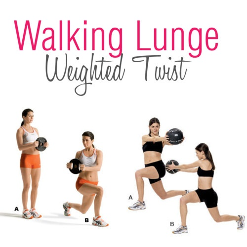Walking lunges. These lunges help you develop balance while strengthening your core and lower body.