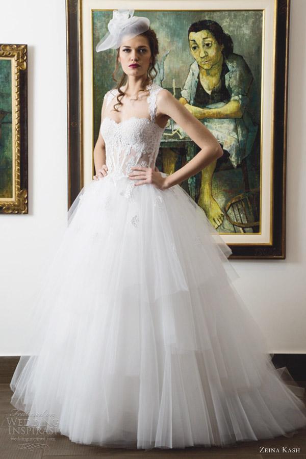 zeina-kash-wedding-dresses-2013-tulle-ball-gown-straps