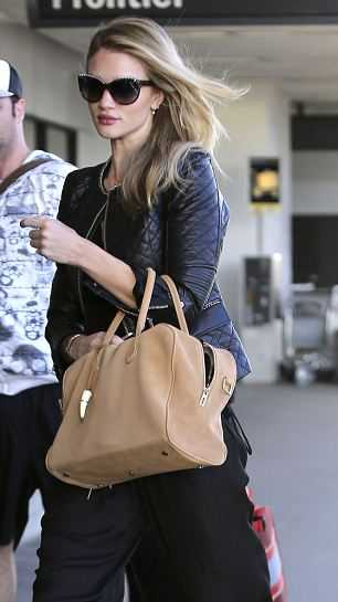 Rosie Huntington-Whiteley heads out of Los Angeles
