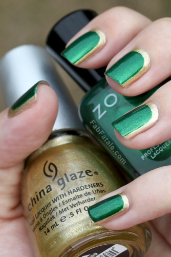 Green-and-Golden-Nails