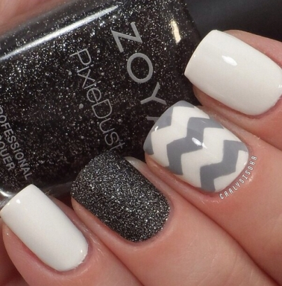 White-and-Grey-Nails