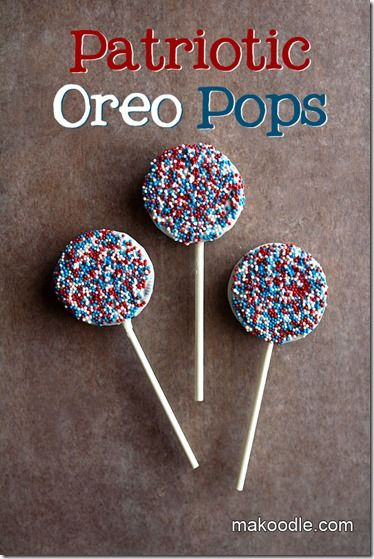 4th of July Food - Oreo Pops