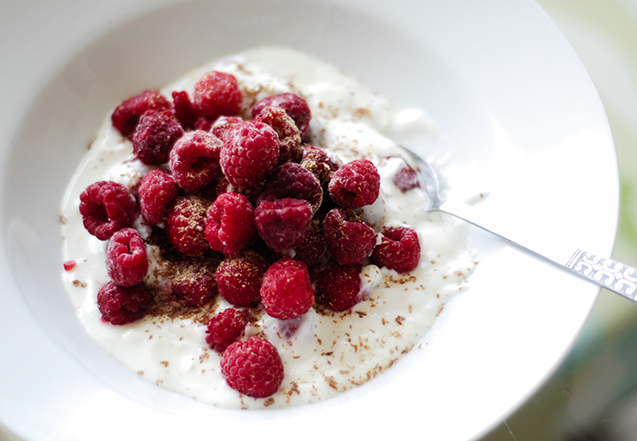 Thu. Greek Yogurt And Raspberries