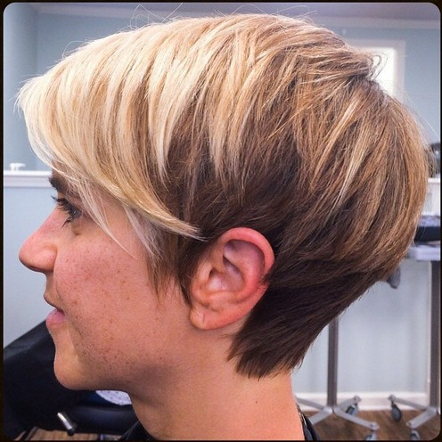 Side-View-of-Two-Tone-Pixie-Cut