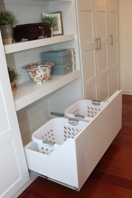 Stash your laundry bins in extra-deep drawers