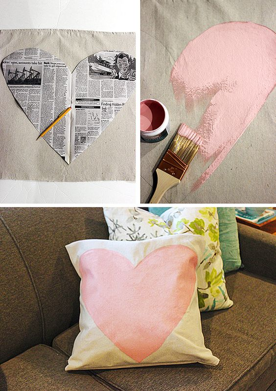 drop cloth pillow cover is so cute